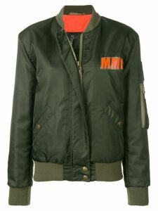 Mr & Mrs Italy logo bomber jacket - Green