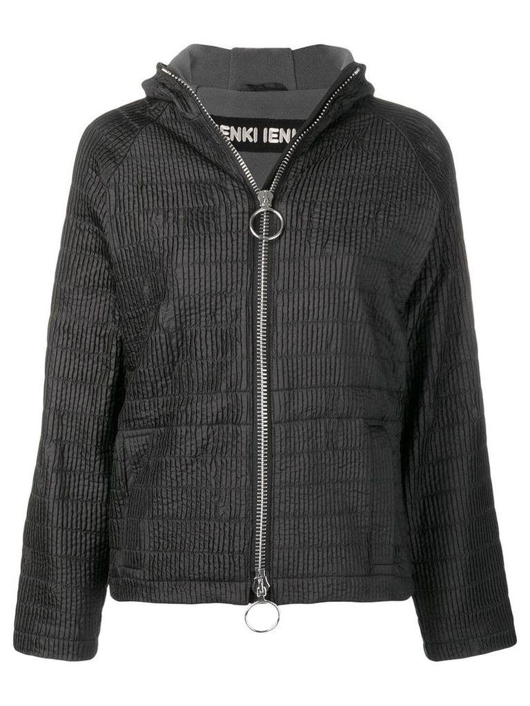 Ienki Ienki zipped hooded track jacket - Black