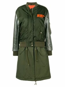 Mr & Mrs Italy Embroidery Clark Ross bomber parka - Green