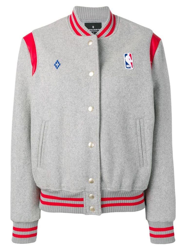 Marcelo Burlon County Of Milan NBA branded jacket - Grey