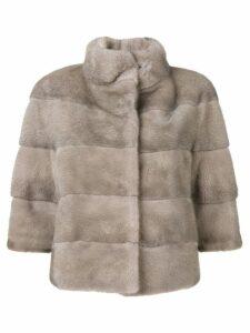Cara Mila Midi cropped jacket - Grey