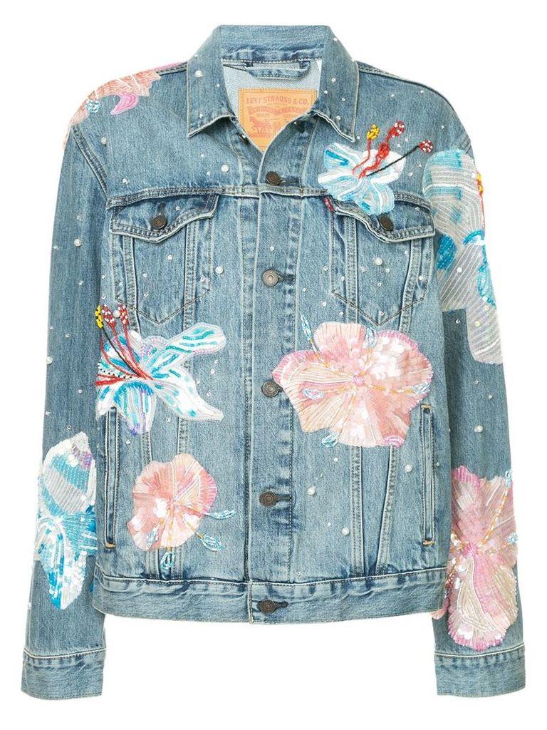 Romance Was Born Fertile Flower jacket - Blue