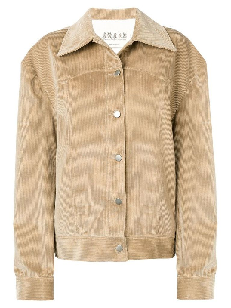 A.W.A.K.E. corduroy oversized jacket - Brown