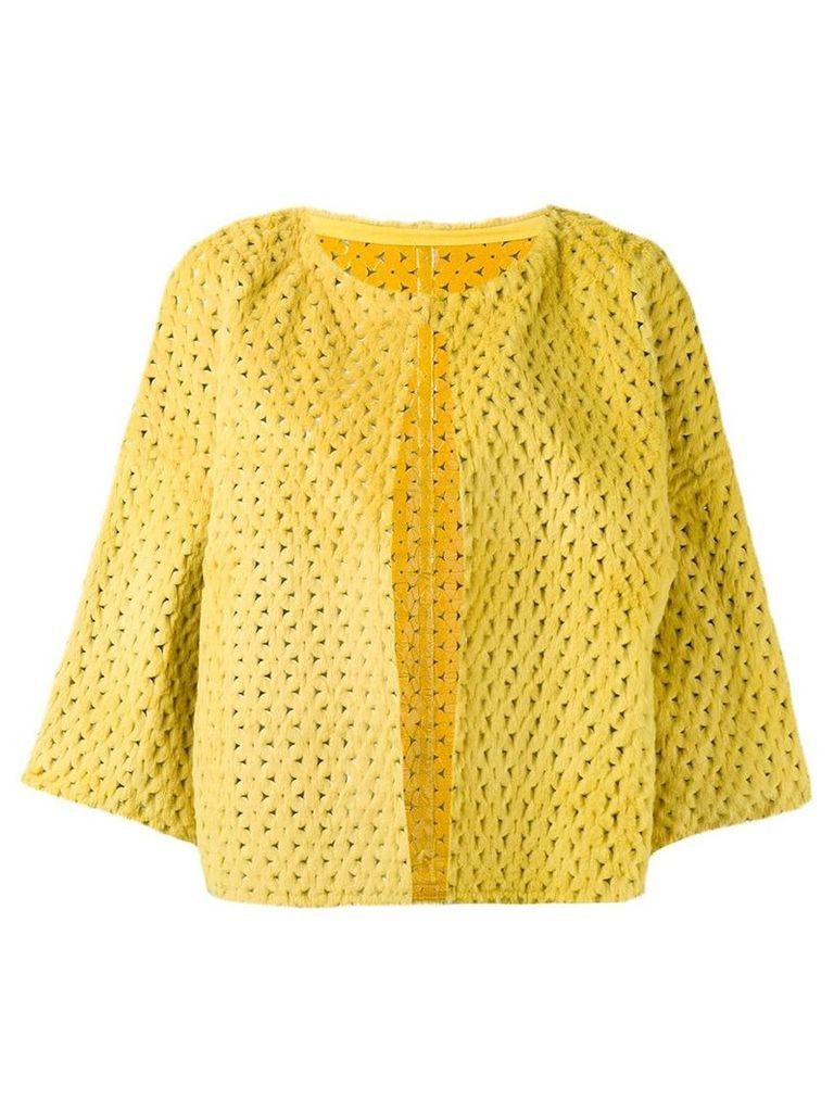 Yves Salomon perforated jacket - Yellow
