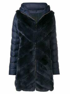 Liska rabbit fur padded coat - Blue