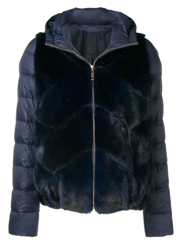 Liska mink fur padded jacket - Blue