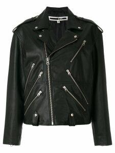 McQ Alexander McQueen classic biker jacket - Black