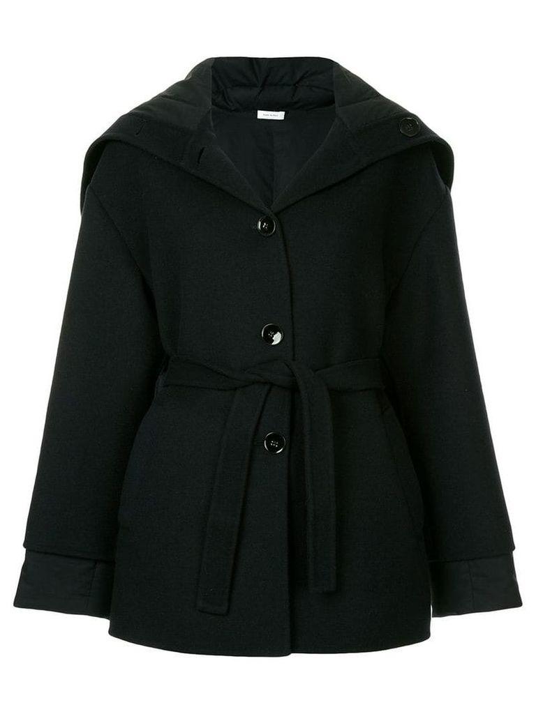 Jil Sander oversized belted jacket - Black
