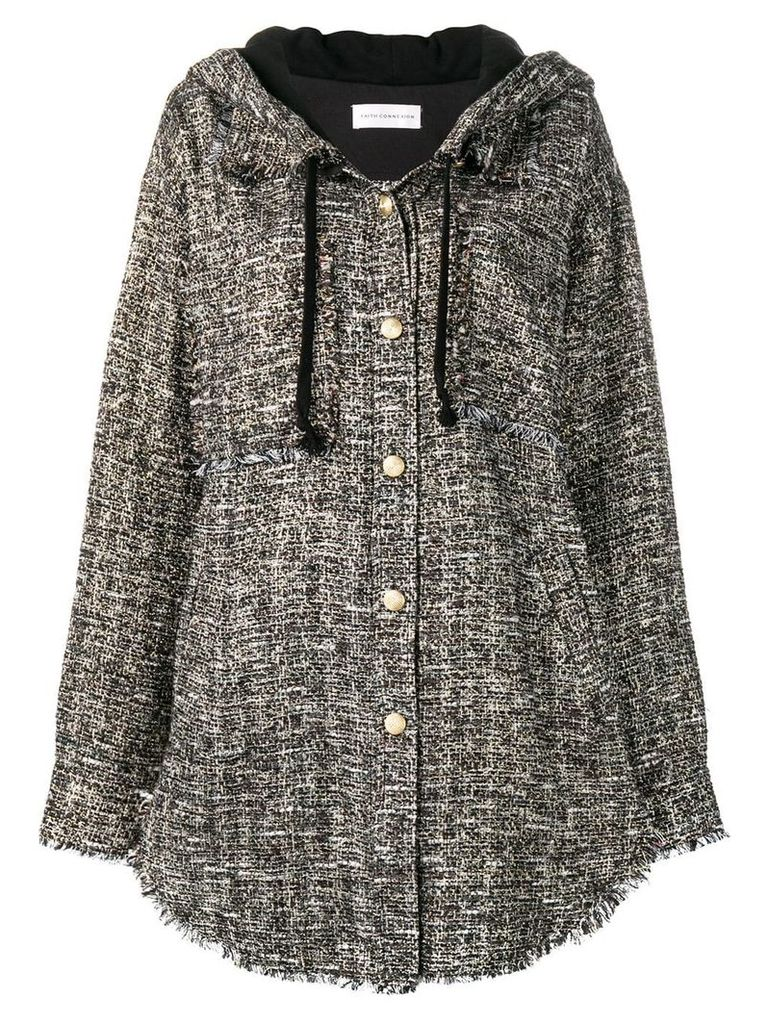 Faith Connexion oversized tweed jacket - Black