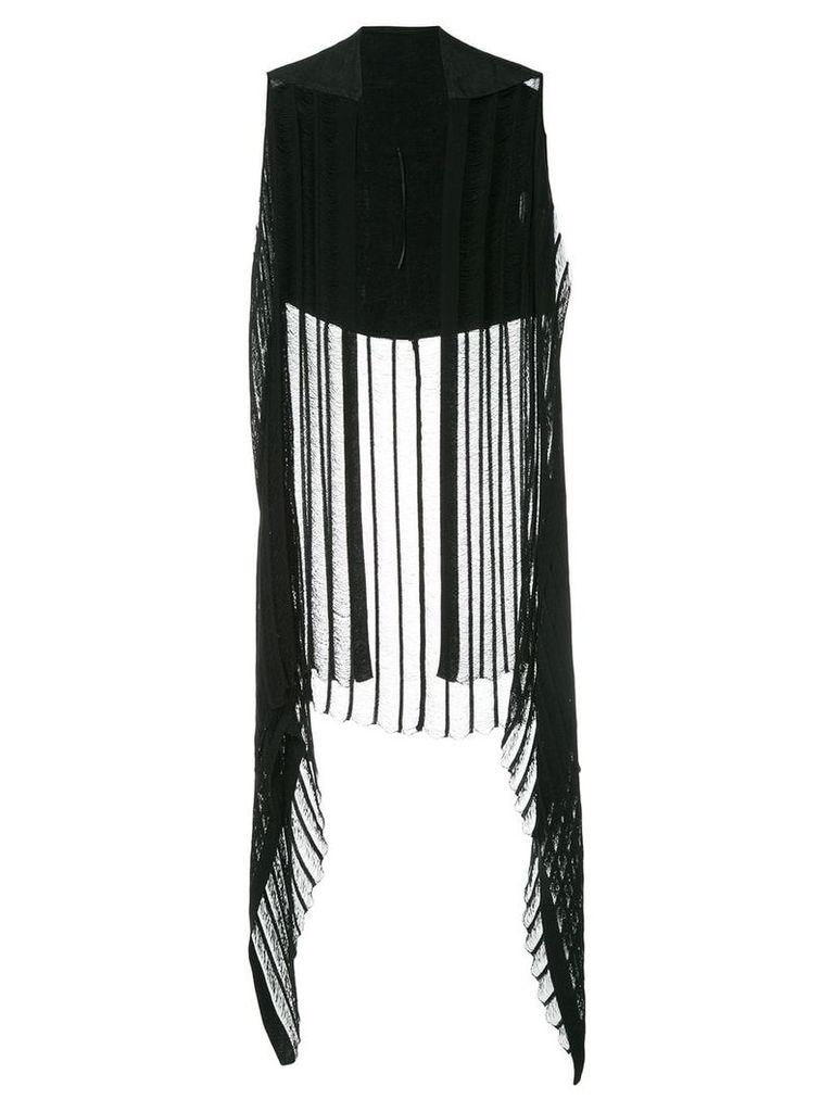 Masnada long asymmetric waistcoat - Black