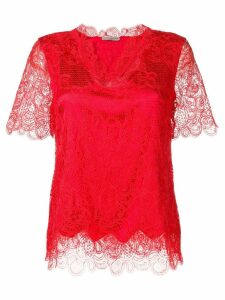 Ermanno Scervino open lace blouse - Red