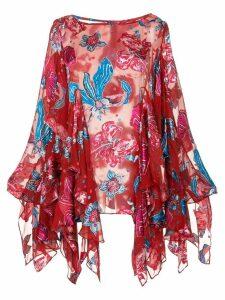 Romance Was Born Xanadu floral blouse - Red