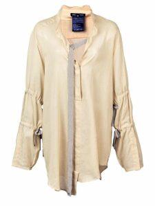 Ann Demeulemeester buckle ribbon blouse - Neutrals