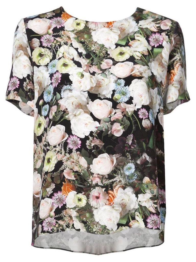 Adam Lippes floral short-sleeve top - Multicolour