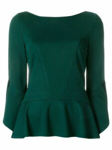 Talbot Runhof ruffled hem blouse - Green