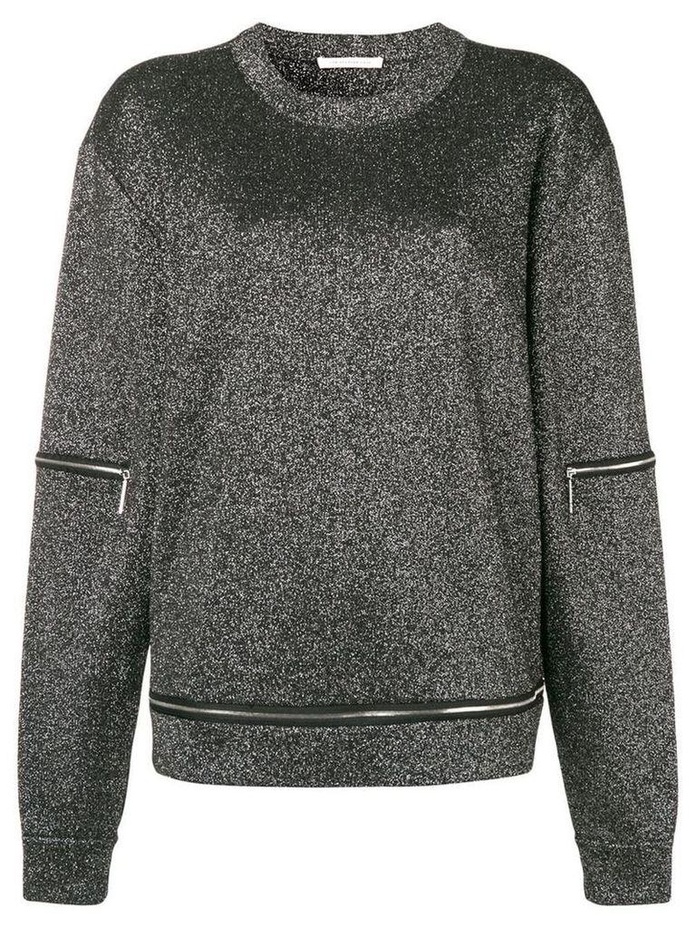 Christopher Kane glitter zip knit - Grey