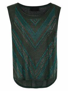 Andrea Bogosian embellished blouse - Green