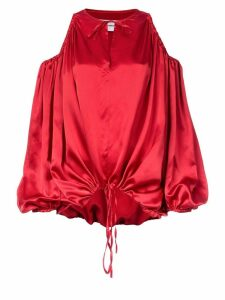 Marques'Almeida cut-out shoulder blouse - Red