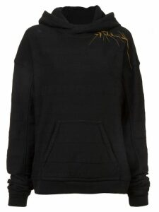 Haider Ackermann leaf detail hoodie - Black
