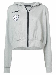 Barbara Bologna frill patch hoodie - Grey