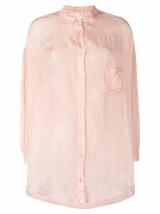 Forte Forte crease effect sheer shirt - Pink