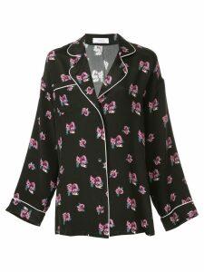 Racil oversized floral print shirt - Black