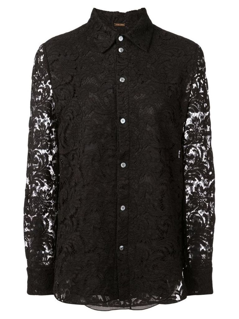 Adam Lippes corded lace shirt - Black