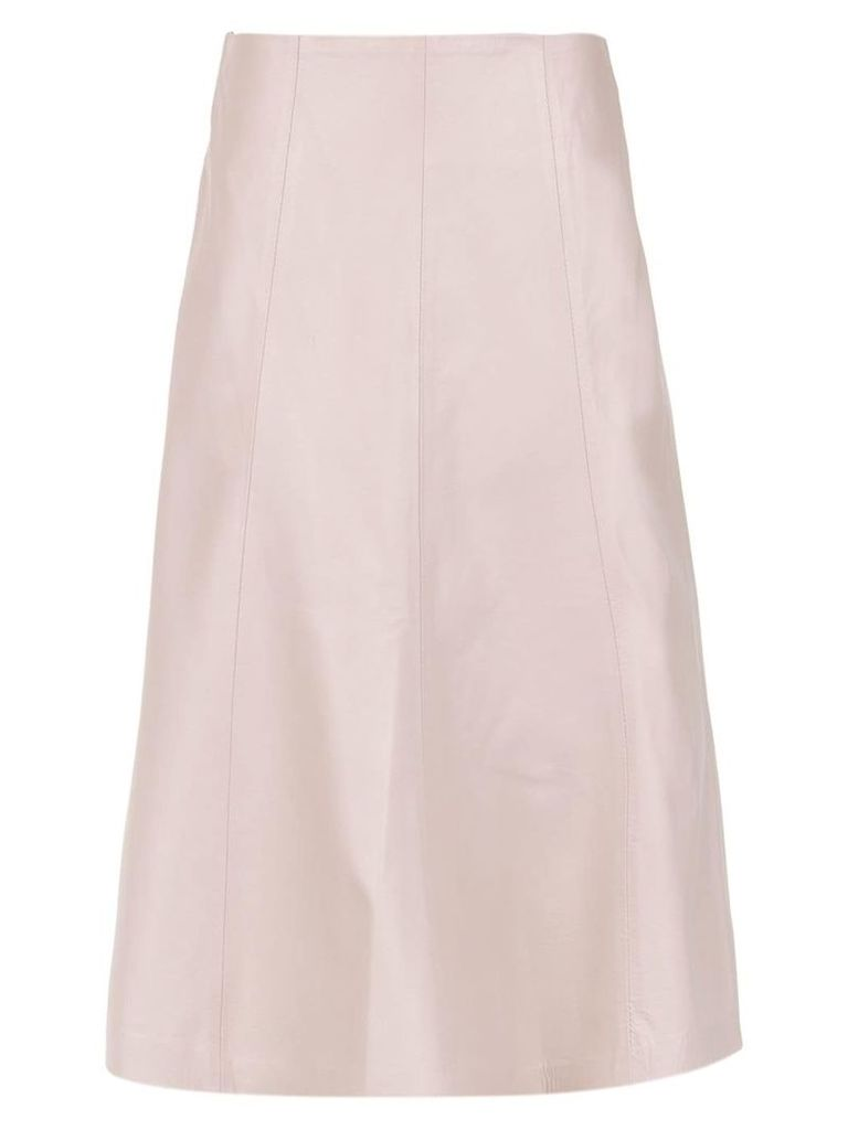 Clé leather midi skirt - Pink