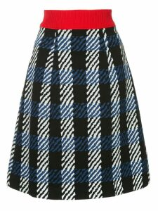 Marni checked knit skirt - Blue