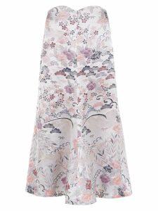 Framed Tokyo midi skirt - White