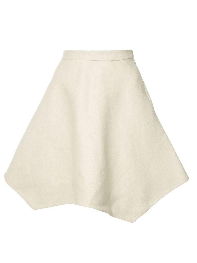 Delpozo jagged hem A-line skirt - Neutrals