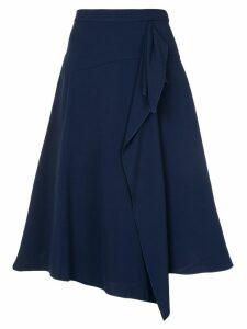 Delpozo flared A-line skirt - Blue