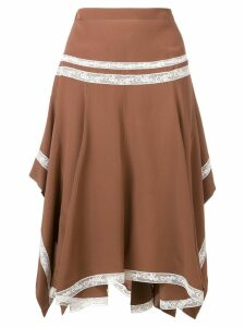 Chloé draped skirt - Brown