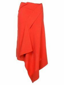 Roland Mouret asymmetric design skirt - Orange