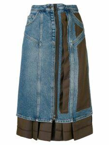 Maison Margiela asymmetric contrast skirt - Blue