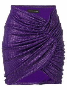 Alexandre Vauthier rhinestone embellished skirt - Purple
