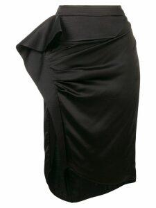 Givenchy asymmetric draped skirt - Black