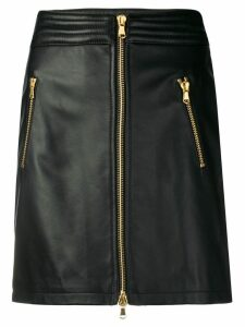 Moschino off-centre zipped skirt - Black