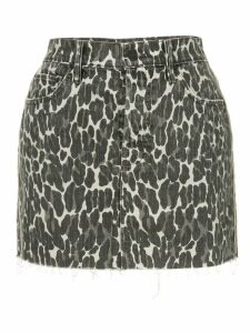Mother leopard print skirt - Black