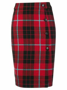 Each X Other checked midi skirt - Red