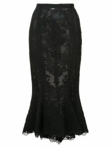 Marchesa lace fishtail skirt - Black
