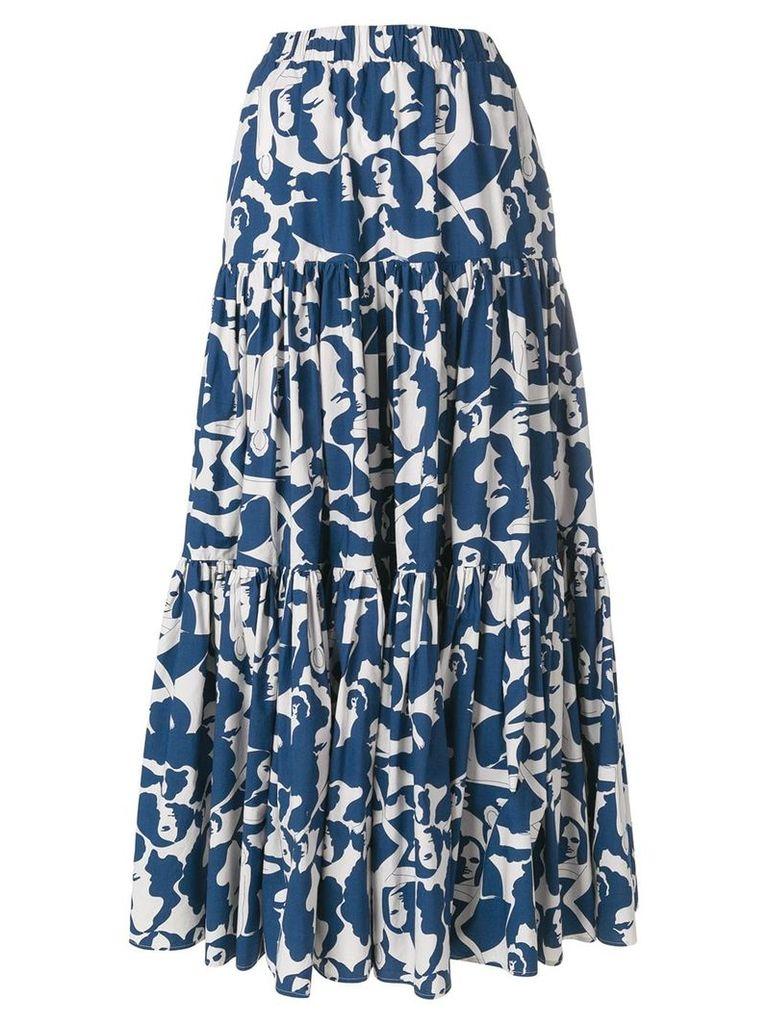 La Doublej faces print skirt - Blue
