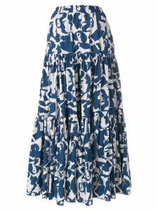 La Doublej faces print skirt - Blue