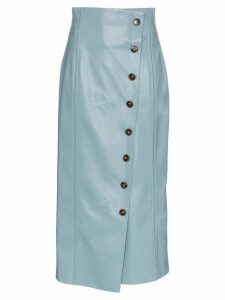 Rejina Pyo high-waisted faux leather midi skirt - Blue