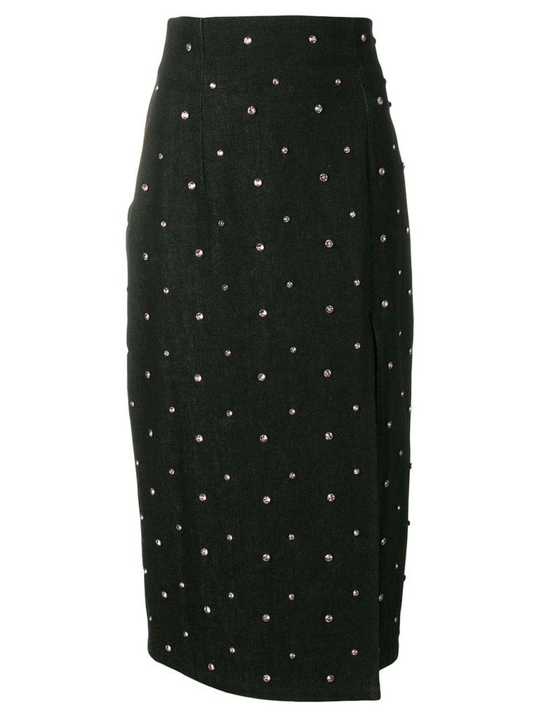 16Arlington crystal studded pencil skirt - Black