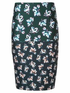 Yigal Azrouel floral printed pencil skirt - Multicolour