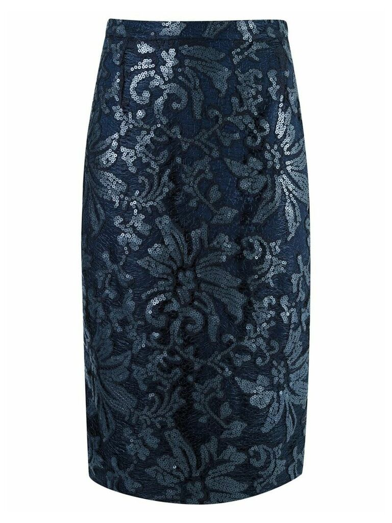 Gloria Coelho lace midi skirt - Blue