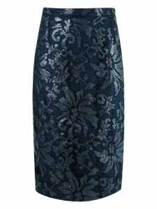 Gloria Coelho lace midi skirt - Blue