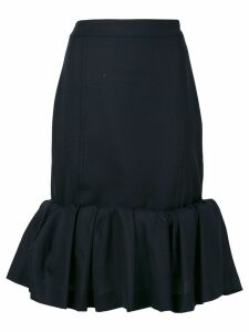Jacquemus ruffle trim skirt - Blue