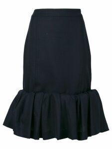 Jacquemus ruffle trim skirt - Blue
